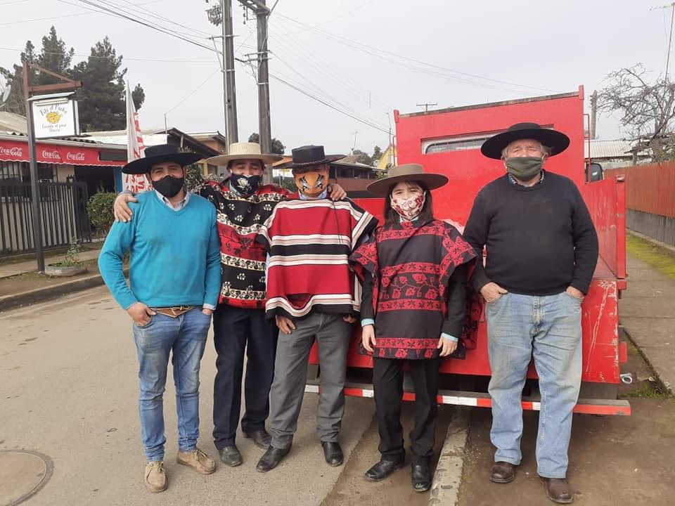 Ayuda solidaria entregó el Club de Huasos Valle Verde de Cumpeo, Asociación Talca Oriente.