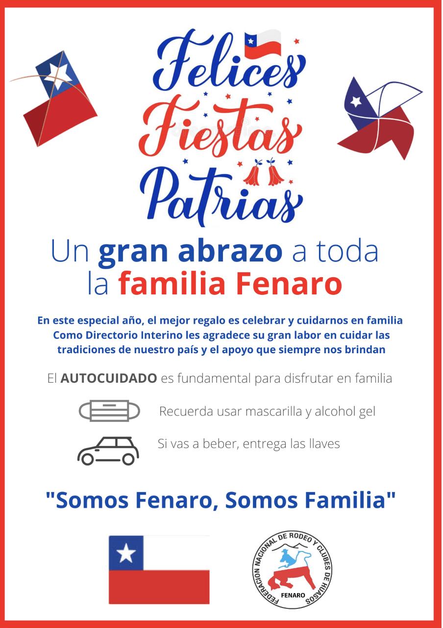 Felices Fiestas Patrias Familia Fenaro
